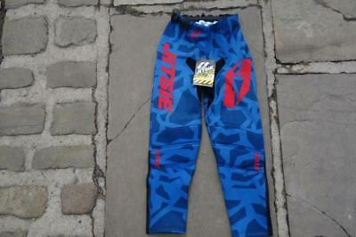 Jitsie Kroko Red Blue Youth Kids Childs Trials Trails Offroad Pants Trousers