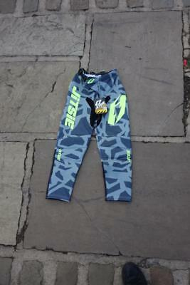 Jitsie Kroko Grey Yellow Youth Kids Childs Trials Trails Offroad Pants Trousers