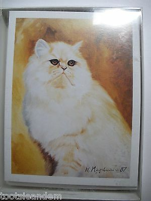 White Persian Cat Notecards Best Friends by Ruth Maystead
