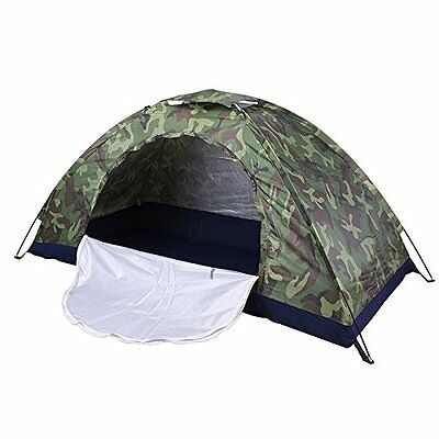 Camo Waterproof Outdoor Festival/Camping/Hiking Pup Up Folding Tent 2-3 Persons
