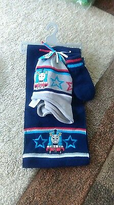 thomas tank engine hat and scarf set