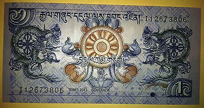 1 Ngultrum Bhutan - 2013 Uncirculated NEW BILLS