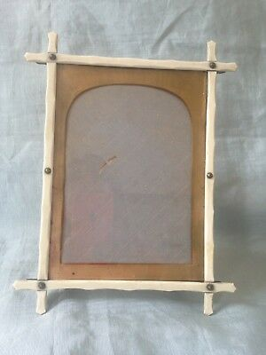 "Antique Victorian Cream Bone? ""oxford"" Cross Picture Frame"