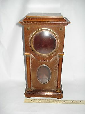 Small Long Wooden Case for Clock Empty Repair Project Restoration 10 Inches Tall