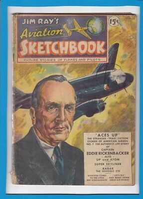 Jim Ray's Aviation Sketchbook #1_March-April 1946_Ungraded_Golden Age!