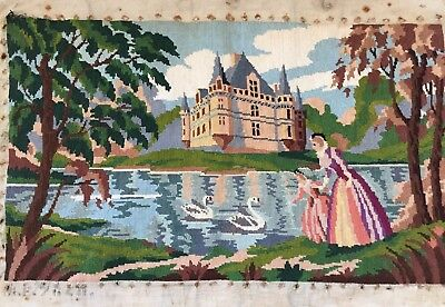 Lovely Vintage French Tapestry/Canevas
