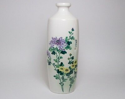 Vintage / antique Chinese porcelain vase painted with chrysanthemums. Republic ?