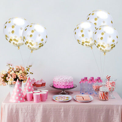 3PCS Clear Balloons Gold Confetti Engagement Party Events  DIY Decoration