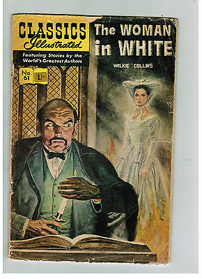 CLASSICS ILLUSTRATED COMIC No. 61 The Woman in White 15c HRN 167