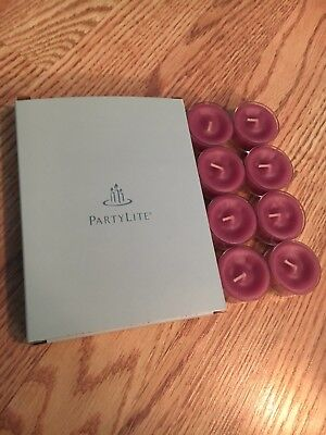 PartyLite Raspberry & Thyme Fusion Lot of 8 unused tealight candles w/ box