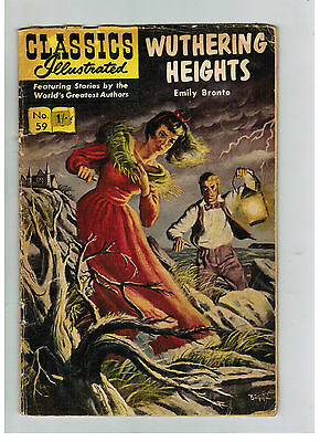 CLASSICS ILLUSTRATED COMIC No. 59 Wuthering Heights 15c HRN 167