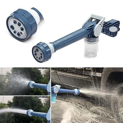 Multi Function 8in1 Jet Garden Car Water & Soap Dispenser Cannon Nozzle Spray +
