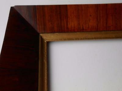 Lovely Antique Victorian Rosewood Veneered  Picture Portrait Frame And Gilt Slip