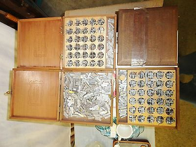 3 Boxes Of Kingsley Gold Stamping Co. Gold Leaf Type Set