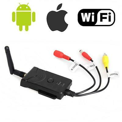 Wifi FPV Wireless P2P Car Reverse Video Camera Transmitter for Iphone Android CV