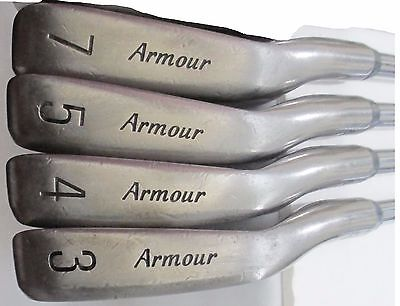 Tommy Armour 845s Titanium Iron Set 3 4 5 7 S-Flex Tour Step 3 Steel Golf Clubs