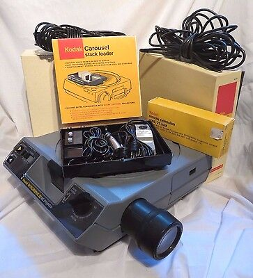 Kodak Ektagraphic Iii As Projector, W/ 3 2 Remotes, Extra Wire, & Carousel Stack