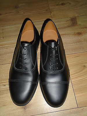 Raf Or Army Mens Black Leather Parade Shoes Various Sizes British Military Issue