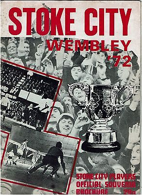 Stoke City Wembley '72 Players Official Souvenir Brochure
