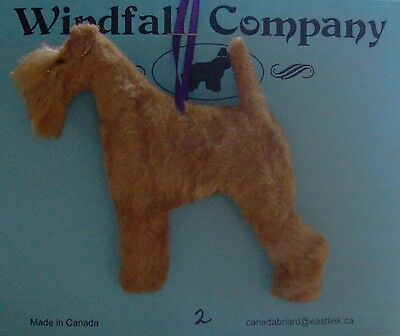 Red Lakeland Terrier Dog Soft Plush Christmas Canine Ornament # 2 by WC