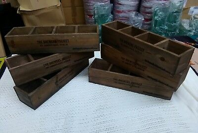 JOBLOT 6 x Rustic Wooden Guinness Brewers Project Caddy / Condiment / Herb boxes