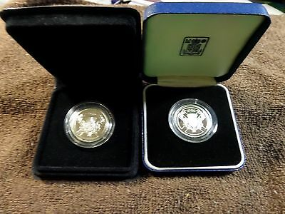 1986 13th Commonwealth Games - Scotland - Proof & BU - Silver £2 Two Coin Set