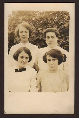 Vintage Rppc Of A 4 Beautiful Young Ladies