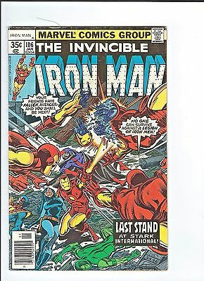 Invincible Iron Man #106  Then there came a War  6.5 Fine    (Colin/ Tim V)