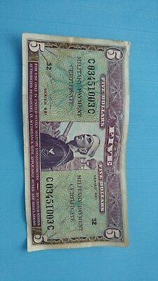 Us $5 military payment certificate Series 681