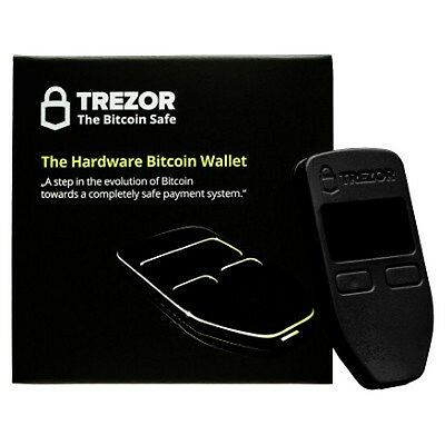 Trezor Hardware Black Wallet Vault Safe Digital Virtual Currency Bitcoin ETH LTC