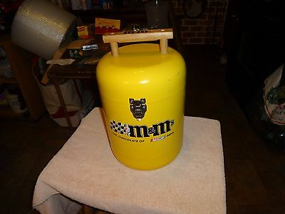 Extremely Rare M&m Nascar Racing Metal  Insulated Cooler