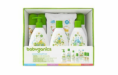 Babyganics Baby Safe World Essentials Gift Set - Wipes Body Wash Lotion Shampoo
