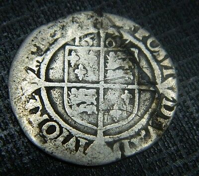 Tudor Period 1567 Elizabeth 1St Silver Sixpence Rose Beside Bust.mm Lion