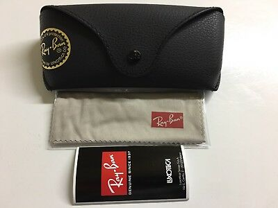 Ray Ban Black Leather Case Lightly Used
