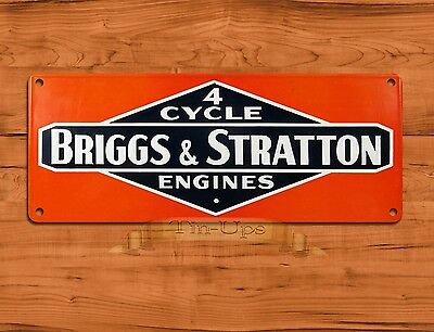 "TIN-UPS TIN SIGN ""Briggs & Stratton 4 Cycle"" Garage Engine Rustic Wall Decor"