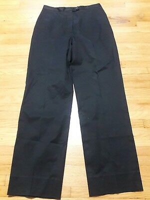Faconnable Black Womens Straight Pants Cotton spandex Flat Straight Leg, 2