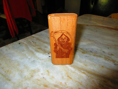 """Used Wooden  """"Dugout""""  Coffee Color box pat. 4214650"""