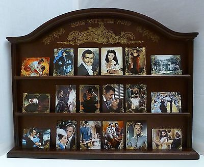 Hamilton Gone with the Wind Porcelain Cards (18) Complete Set With Wood Display