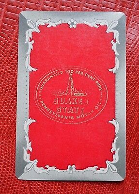 Vintage Swap Card Quaker State Pennsylvania Motor Oil RED Arrco Extra Joker