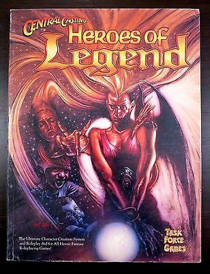 Central Casting Heroes of Legend 2nd Edition Paul Jaquays - Excellent Cond.