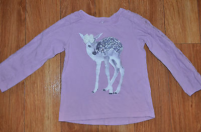 GIRLS Children's Place 5T lilac shirt with deer
