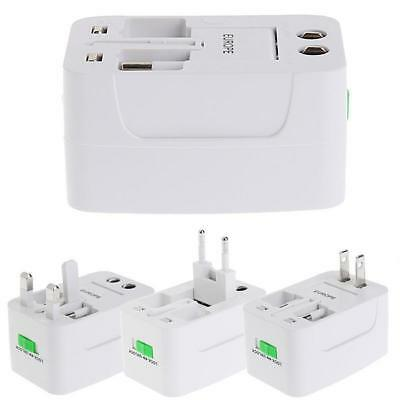 US to EU Europe and Universal AC Power Plug World Travel Adapter Converter MT