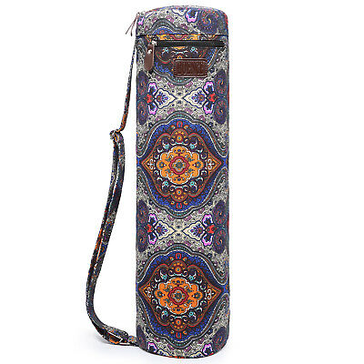 "Boence Full Zip Canvas Yoga Mat Bag Exercise Yoga Sling Carry Bag (26"" D x 7""L)"