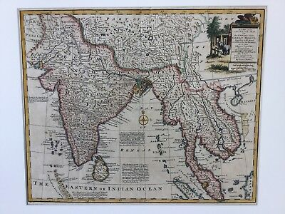 1757 Emanuel Bowen New and Accurate Map of the Empire of Great Mogul, India