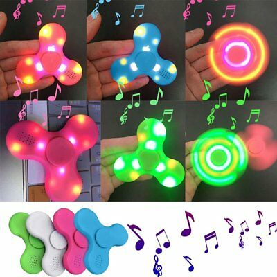 Bluetooth Speaker LED Hand Spinner Anti Stress Autism Hand Fidget EDC Gyro Toys
