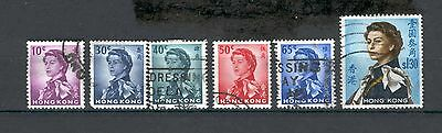 Hong Kong  1962  Queen Elizabeth definitives used.