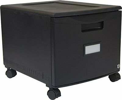 Storex Single Drawer Mini File Cabinet with Lock and Casters, 18.25 x 14.75