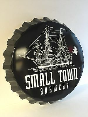 Small Town Brewery Ship Bottle Cap Tin Sign Not Your Father's Root Beer NEW