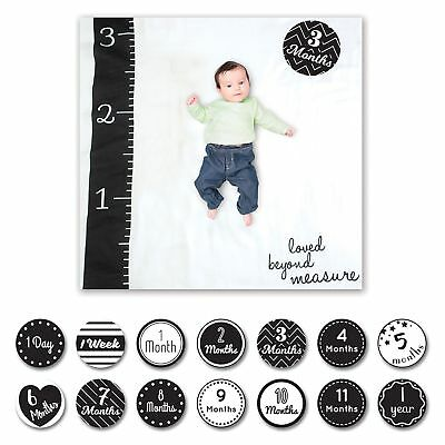 Lulujo Baby / Child Milestone Blanket And Cards Set Loved Beyond Measure