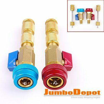2X R134A Air Conditioning Valve Core Quick Remove Install High/Low Pressure Tool
